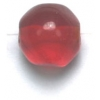 Glass Beads 10mm Facetted Siam Ruby